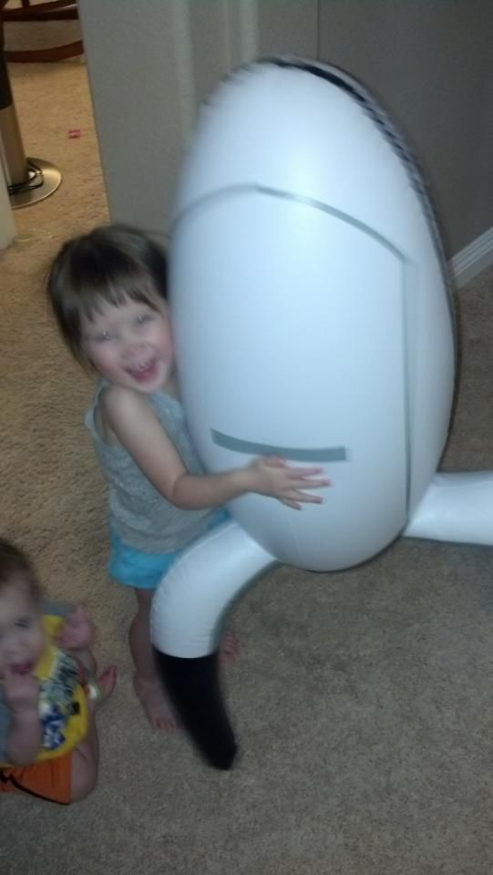 Siblings Have Lots of Fun with Portal Turret Photo Tag
