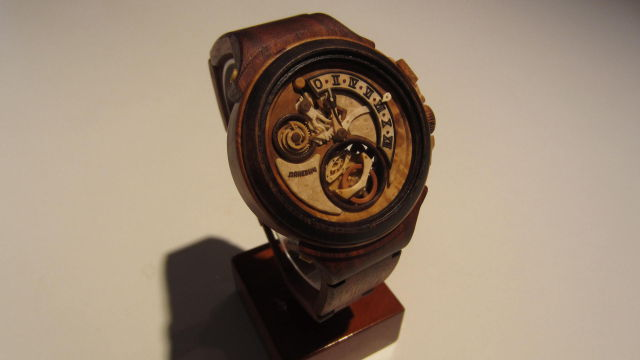 A Watchmaking Extraordinaire Who Crafts Complete Wristwatches from Wood