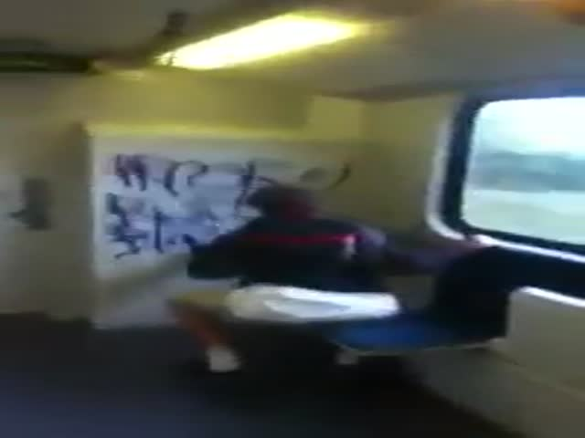 Kids Getting Caught Red-Handed Vandalizing a Train