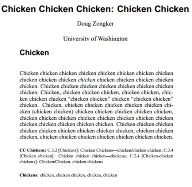 Is Anyone In the Mood for Chicken?