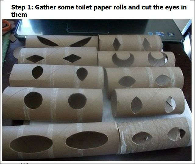 Scary and Fun Prank with Toilet Rolls