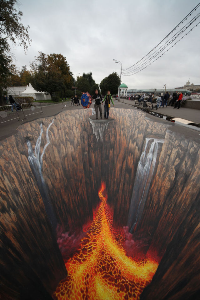 Awe-Inspiring 3D Chalk Drawings That Will Blow You Away