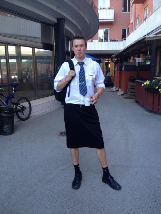 Train Drivers in Stockholm Take Their Work Wear to a New Level