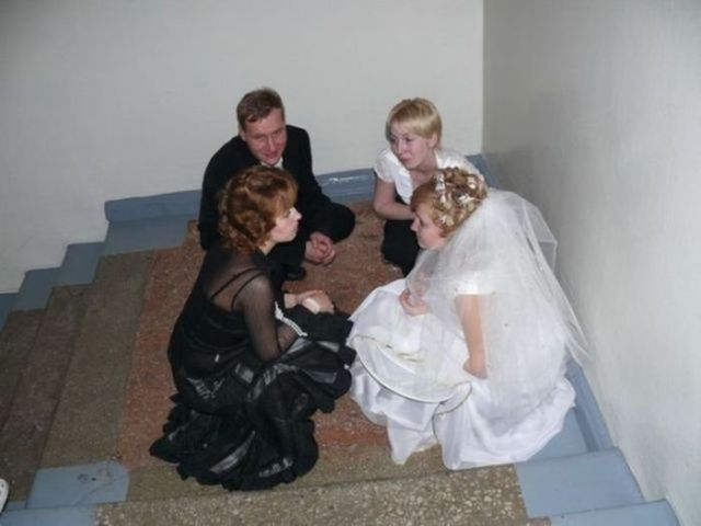 Wedding Pictures of Funny and Awkward Moments