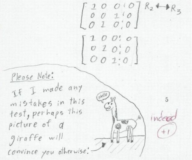 Hilarious Test Answers from Students