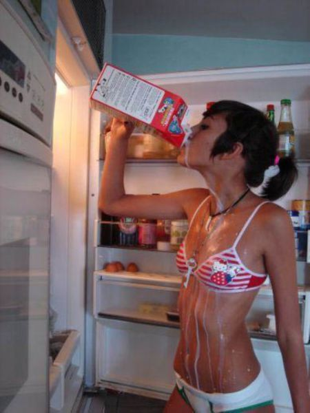 Hot Girls Get a Cool Down…