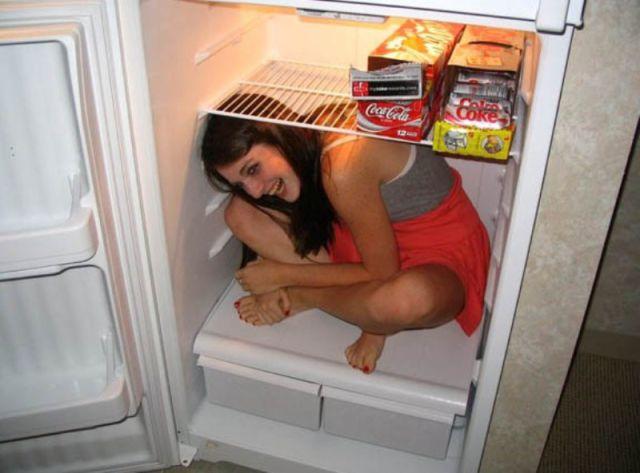Hot Girls Get a Cool Down…