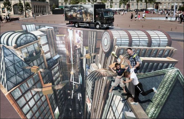 Massive 3D Street Art That Could Become a Guinness World Record