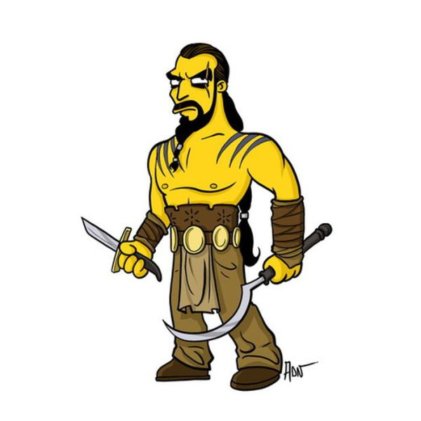 """Game of Thrones"" Characters Get a ""Simpson's"" Makeover"