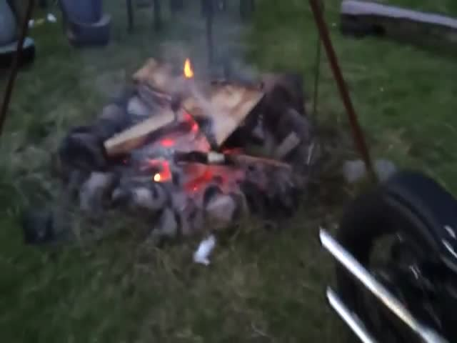Next Time You Need to Light a Fire, Use Your Harley