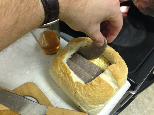 Gigantic Homemade Squished Sandwich