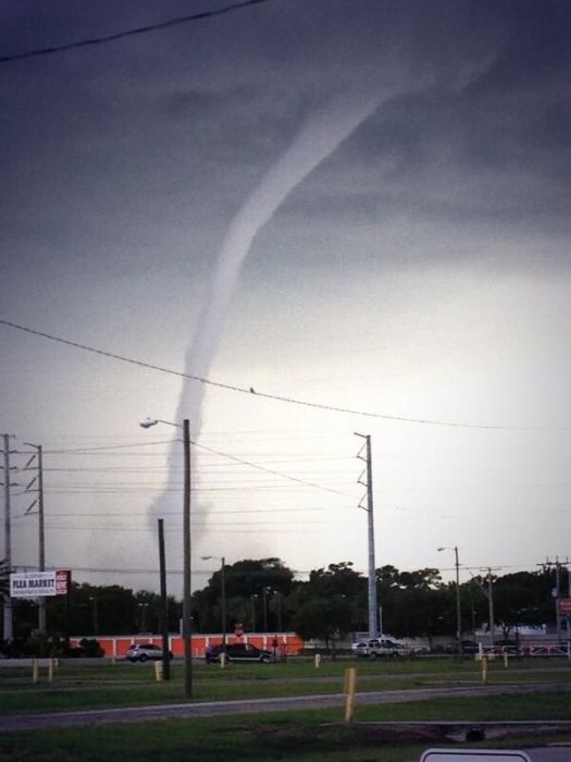 The Attack of the Waterspout in Tampa Bay, Florida