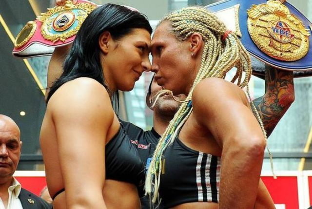 Women Boxers Share an Odd Moment in Public