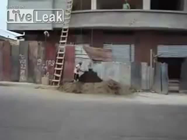 An Interesting Method of Moving Sand