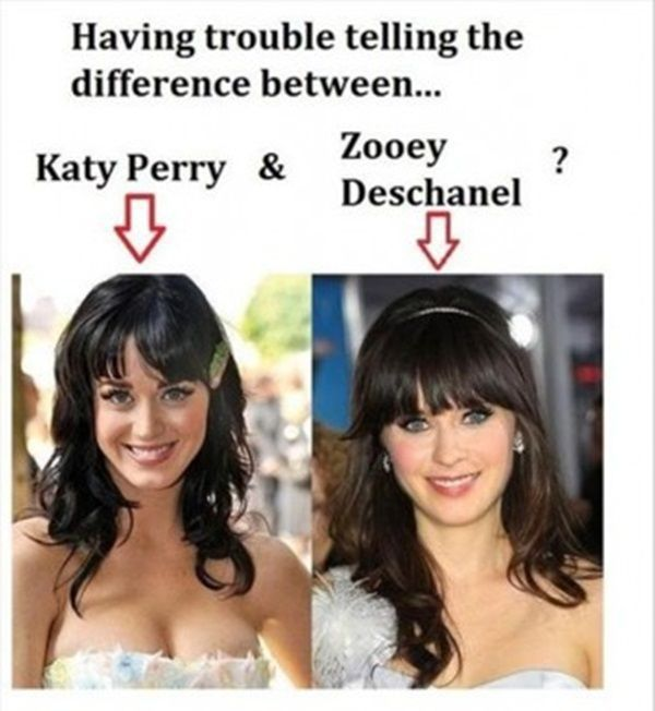 One Easy Trick for Telling the Difference between Katy Perry and Zooey Deschanel