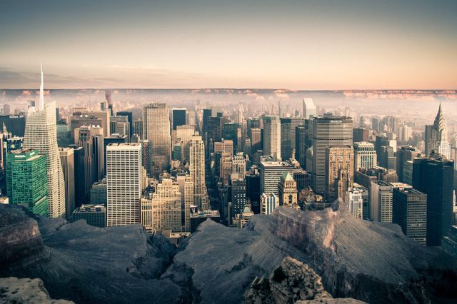 What Manhattan Would Look Like if It Was in the Grand Canyon