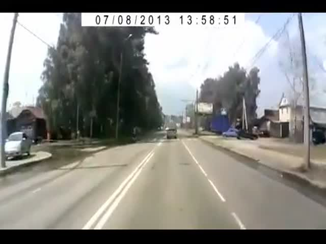 Guy Escapes Near Death