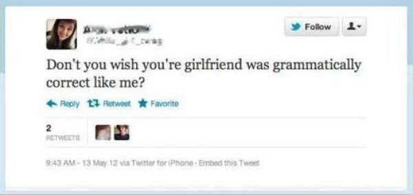 Next Time Do a Grammar Check