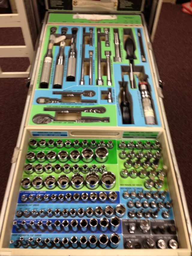 A Specially Designed Toolbox for Use in Space