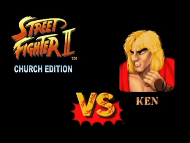 Street Fighter Video Game Goes to Church