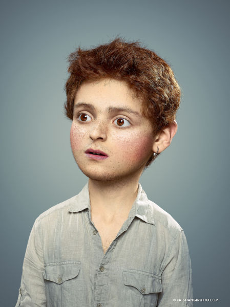 Adults Get a Photoshop Makeover to Look Like Kids