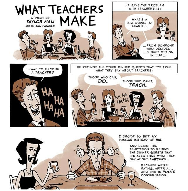 Humorous Comic Strip About Life as a Teacher