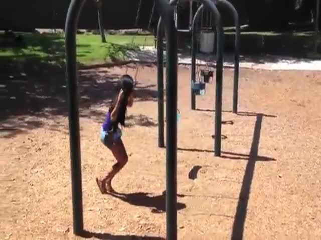 Funny Swingset Wedgie Prank