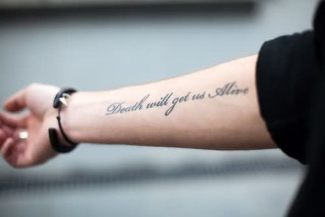 Tattooed Text Art That's Truly Terrific