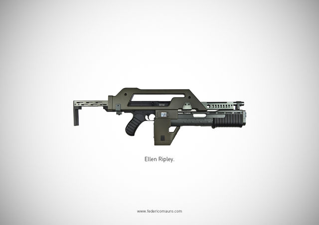 An Assortment of Guns That Represent Great Movie Characters