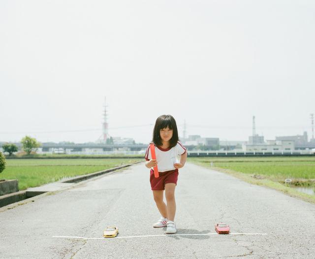 Cute Little Girl in Imaginative Settings