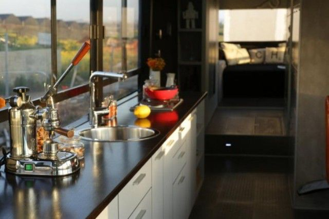 Women Turn a Scrapyard Bus into a Stylish Home