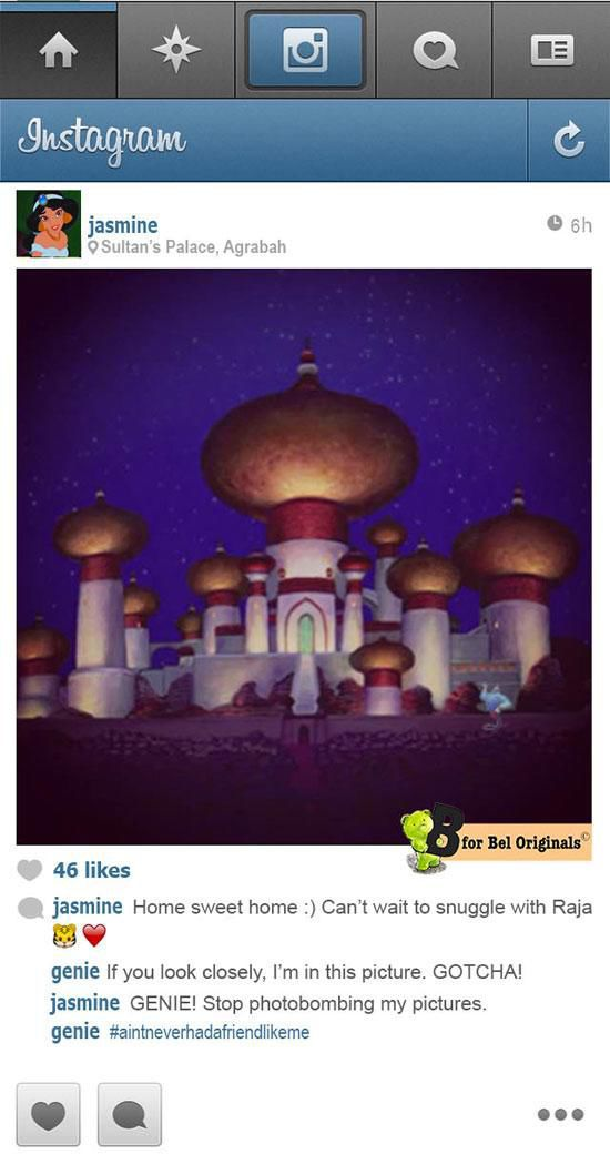 Instagram in the World of Disney Princesses