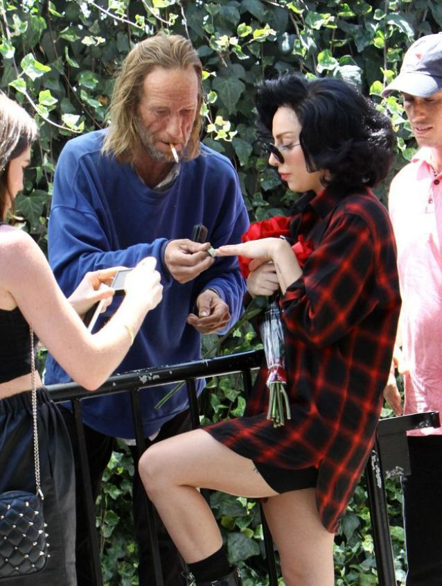 Homeless Guy and Lady Gaga