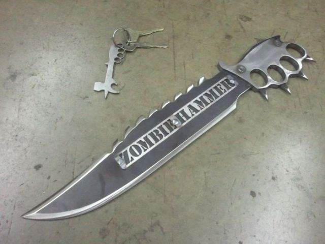 Awesome Anti-Zombie Knives from Zombiehammer