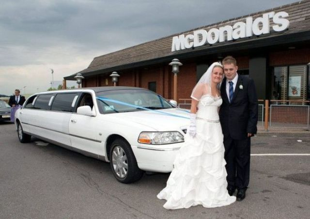 Couple's Fast-Food Wedding Reception!