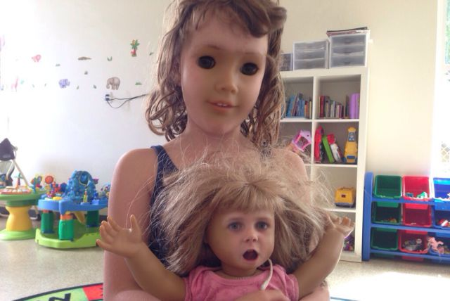 """Freaky """"Faceswaps"""" of Dolls and Kids"""