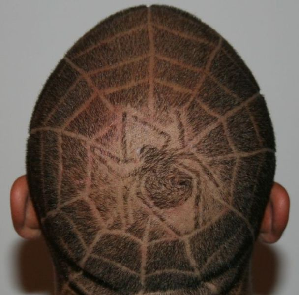 """Tattoos"" on Heads and in Hair"