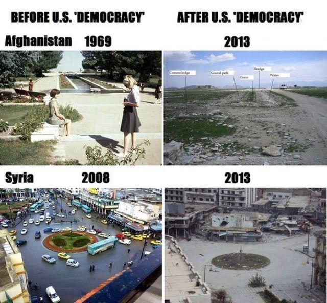 The Devastation and Destruction in Syria
