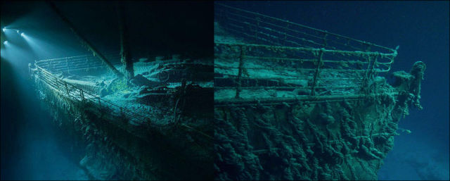 Undersea Photos Of The Titanic Wreckage 42 Pics