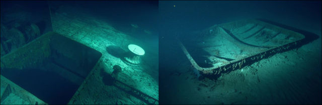 Undersea Photos of the Titanic Wreckage