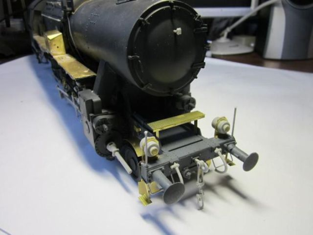 A Small Replica Model of the German War Train Locomotive BR-52