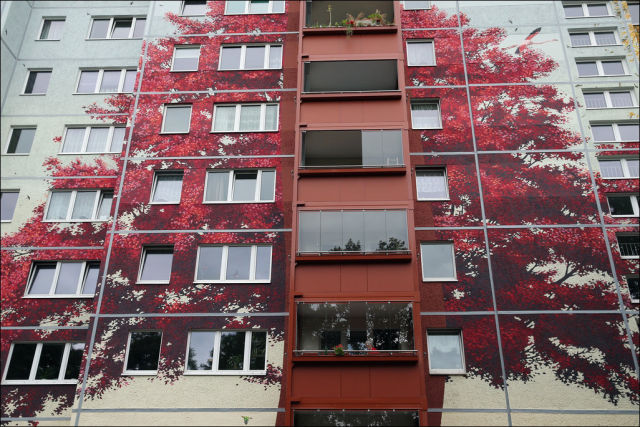 A Cool and Creative One-of-a-kind Painted Apartment Building