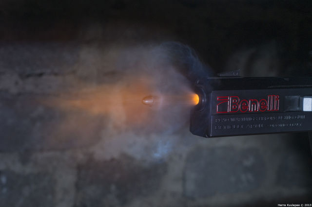 Awesome Stills of a Gun Shot Travelling in Slow Motion