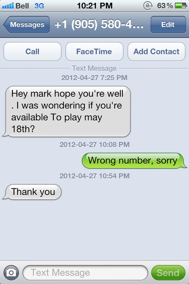 Hilarious Responses to Wrong Number Texts