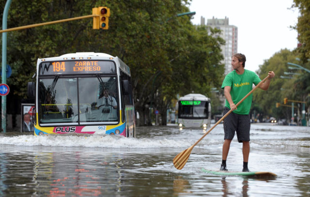 People Looking at the Bright Side of Flooding…