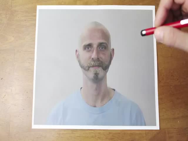 Awesome Ballpoint Stop Motion Reverse Haircut and Beard-cut