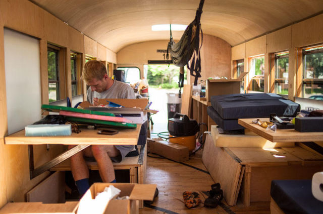 A Cool School Bus Conversion into a Fully-Functional Mobile Home