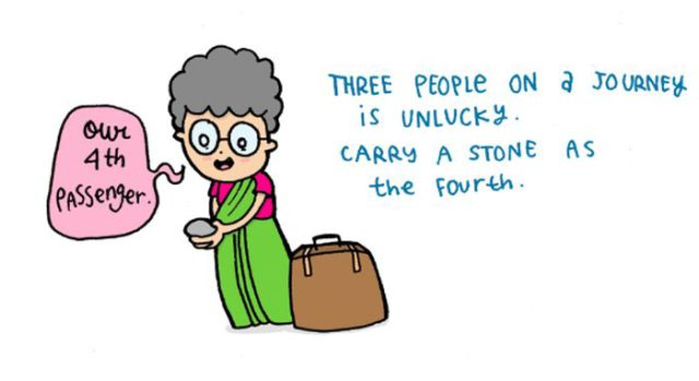 Cartoon Illustrations of Well-Known Old Wives Tales