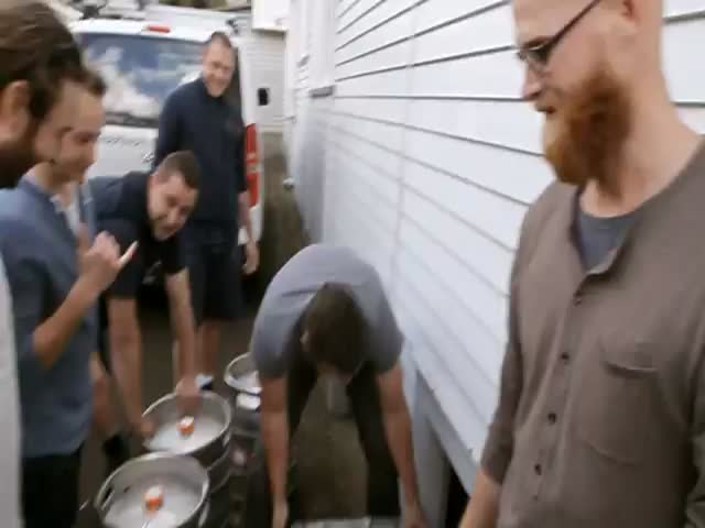 Tap Water Fully Replaced by Beer Prank