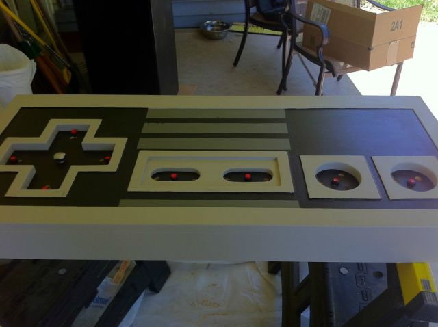 Authentic Homemade Nintendo-Inspired Coffee Table